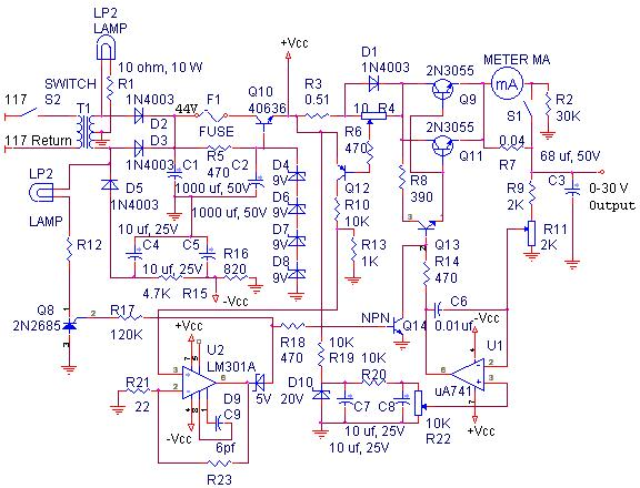 Voltage regulators on ac capacitor